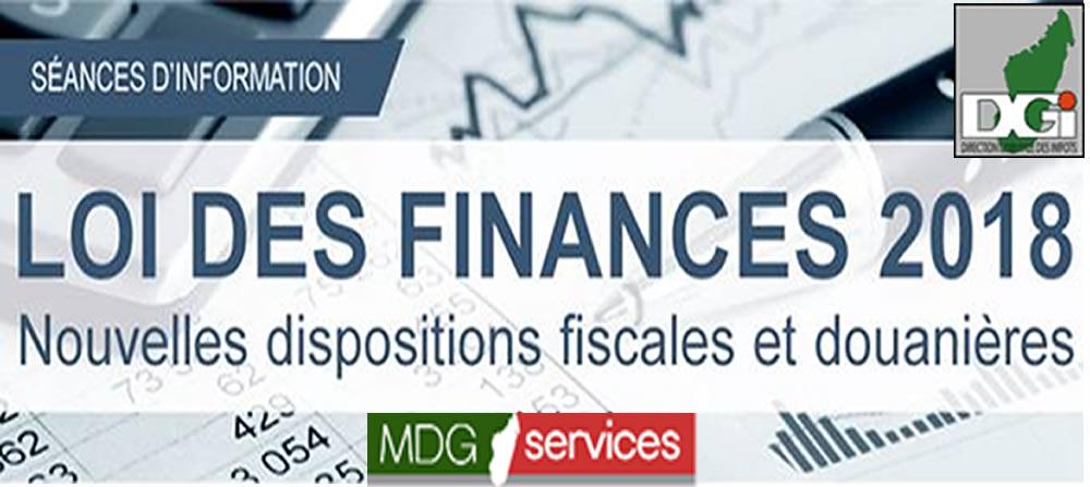 Les nouvelles dispositions de la loi de finances 2018 for Chambre de commerce de madagascar