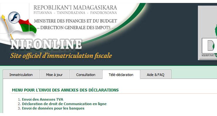 Carte Dimmatriculation Fiscale Madagascar.La Teledeclaration Fiscale A Madagascar Actualites